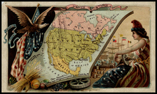 United States Map By Arbuckle Brothers Coffee Co.