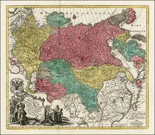 Russia, Central Asia & Caucasus and Russia in Asia Map By Tobias Conrad Lotter