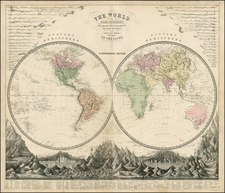 World, World and Curiosities Map By Alexander Keith Johnston