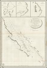 Mexico, Baja California and California Map By Depot de la Marine