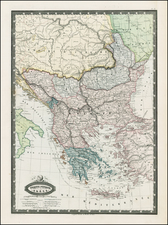 Balkans, Turkey, Turkey & Asia Minor and Greece Map By F.A. Garnier