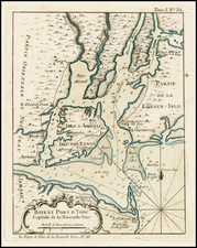 Mid-Atlantic Map By Jacques Nicolas Bellin