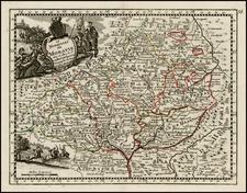 Czech Republic & Slovakia Map By George Louis Le Rouge