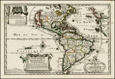 South America, California and America Map By Nicolas de Fer