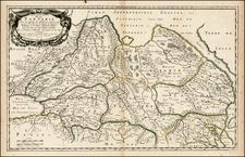 China, Korea, Central Asia & Caucasus and Russia in Asia Map By Nicolas Sanson