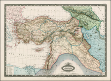 Turkey, Middle East, Turkey & Asia Minor and Balearic Islands Map By F.A. Garnier