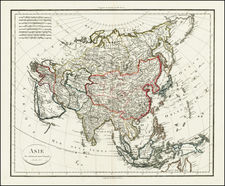Asia Map By Jean Baptiste Poirson