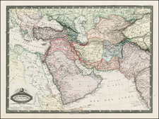 Turkey, China, Other Islands, Central Asia & Caucasus, Middle East, Turkey & Asia Minor and Balearic Islands Map By F.A. Garnier