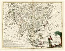 Asia and Asia Map By Antonio Zatta