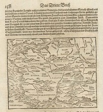 Europe, Belgium, Switzerland, France and Germany Map By Sebastian Munster