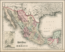 Mexico, Baja California and Central America Map By OW Gray