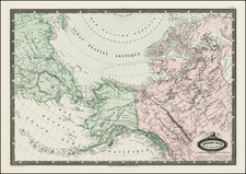 Polar Maps, Alaska and Canada Map By F.A. Garnier
