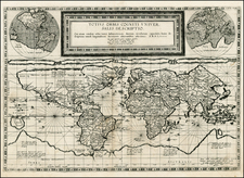 World and World Map By Cornelis de Jode