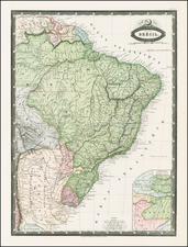 Brazil Map By F.A. Garnier