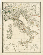 Balkans, Italy and Balearic Islands Map By Alexandre Emile Lapie