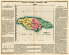 Caribbean Map By Henry Charles Carey  &  Isaac Lea