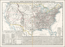United States Map By Benedetto Marzolla