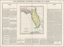 Florida and Southeast Map By Jean Alexandre Buchon