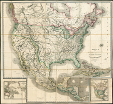 United States, Texas, Plains, Southwest, Rocky Mountains, North America and California Map By James Wyld