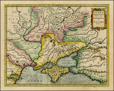 Russia, Ukraine, Central Asia & Caucasus and Russia in Asia Map By Gerhard Mercator