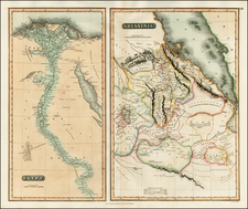 Egypt, North Africa and East Africa Map By John Thomson
