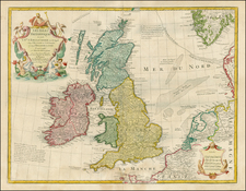 British Isles Map By Jean André Dezauche