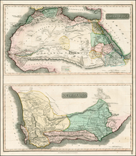 North Africa and South Africa Map By John Thomson