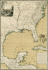 United States, Mid-Atlantic, South, Southeast, Texas and Midwest Map By Louis Brion de la Tour / Esnauts & Rapilly