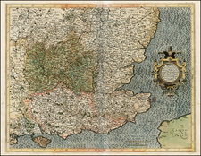 British Isles Map By Gerhard Mercator