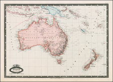 Australia & Oceania, Australia, Oceania and New Zealand Map By F.A. Garnier