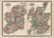 British Isles, Scotland and Ireland Map By Alvin Jewett Johnson
