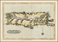 Caribbean Map By Fielding Lucas Jr.