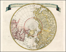 Northern Hemisphere, Polar Maps and California Map By Isaak Tirion