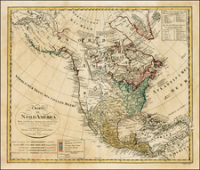 United States and North America Map By Homann Heirs / Franz Ludwig Gussefeld