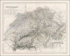 Switzerland Map By Archibald Fullarton & Co.