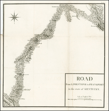 South and Midwest Map By Victor George Henri Collot