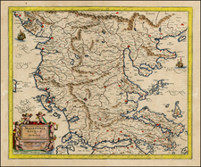 Balkans and Greece Map By  Gerard Mercator