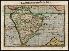 South America Map By Petrus Bertius