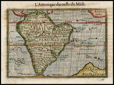 South America Map By Petrus Bertius