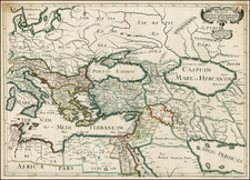 Balkans, Italy, Mediterranean, Balearic Islands, Central Asia & Caucasus, Middle East, Holy Land and Turkey & Asia Minor Map By Nicolas Sanson