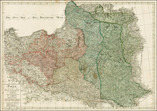 Poland and Baltic Countries Map By Adam Gottlieb Schneider  &  Johann Christoph Weigel