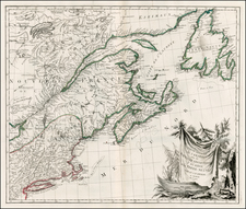 New England and Canada Map By Paolo Santini