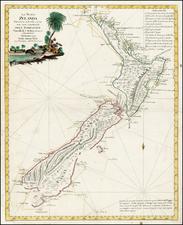 New Zealand Map By Antonio Zatta