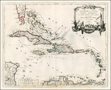 Caribbean Map By Paolo Santini