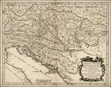 Hungary, Balkans and Croatia & Slovenia Map By Giacomo Giovanni Rossi