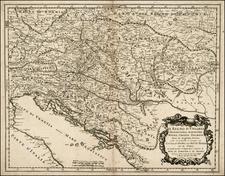 Hungary, Balkans and Croatia & Slovenia Map By Giacomo Giovanni Rossi