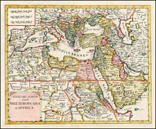 Turkey, Mediterranean, Central Asia & Caucasus, Middle East, Turkey & Asia Minor and North Africa Map By Giambattista Albrizzi