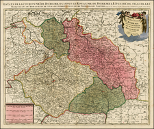 Poland and Czech Republic & Slovakia Map By Peter Schenk