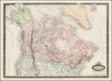Alaska and Canada Map By F.A. Garnier
