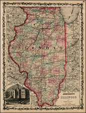 Midwest Map By Benjamin P Ward  &  Alvin Jewett Johnson
